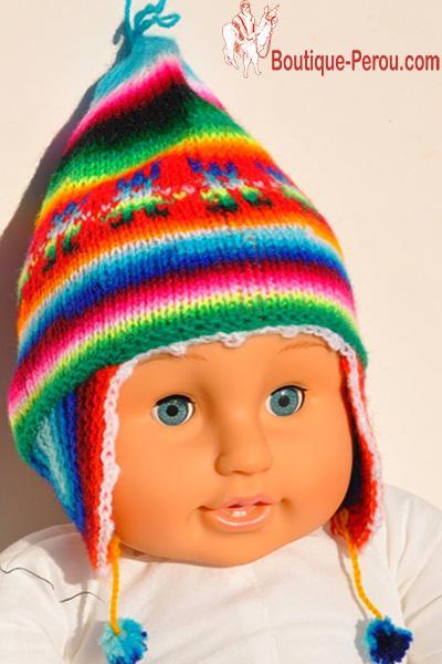 Bonnet Péruvien Pour Nouveau Né Bonnets Enfant