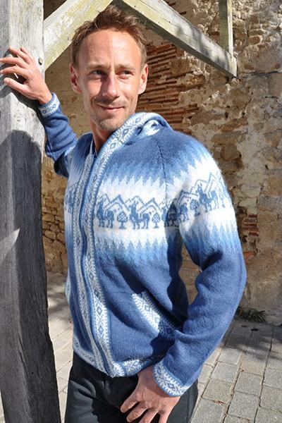 Gilet en laine d'alpaga Vestes en alpaga Homme