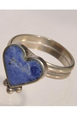 Bague Corazon en pierre lapis-lazuli