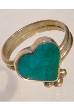 Bague Corazon en pierre turquoise