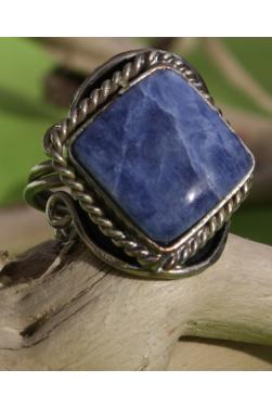 Bague peruvienne en lapis-lazuli