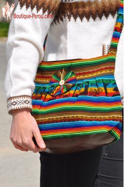 Sac a main Chaski en tissu des incas