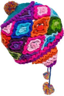 Bonnet péruvien Pachamama en laine d'alpaga