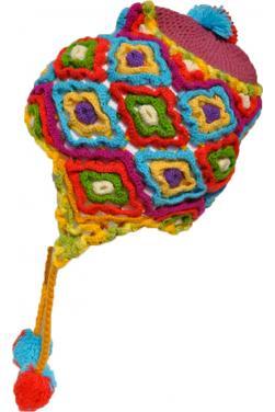 Bonnet peruvien en laine d'alpaga