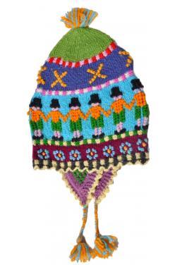Bonnet péruvien arc en ciel