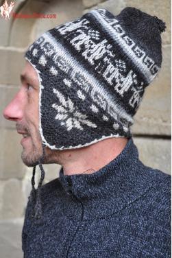Bonnet péruvien homme gris
