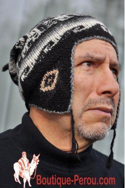 Bonnet péruvien homme noir