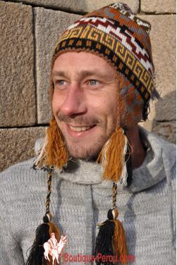 Bonnet péruvien homme Ocongate Chakana