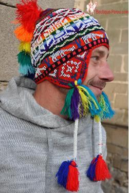 Bonnet péruvien homme d'Ocongate Inti