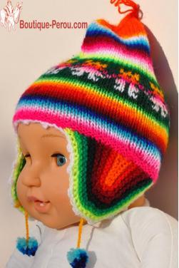 Bonnet péruvien  enfant premier âge