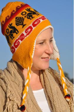 Bonnet péruvien en laine