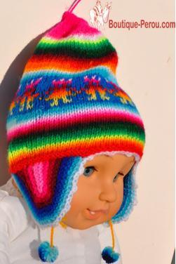 Bonnet péruvien pour tout petit