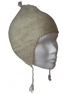 Bonnet péruvien  en laine de mouton.