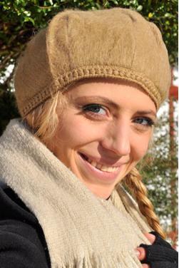 Bonnet femme beige