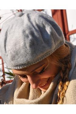 Bonnet femme gris