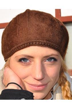 Bonnet femme marron