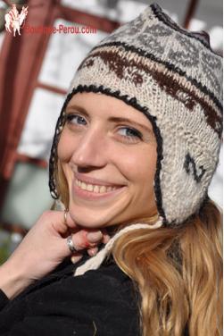 Bonnet d'hiver tricote a la main