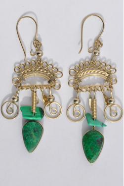 Boucles d'oreilles en lapis-lazuli - Quilla