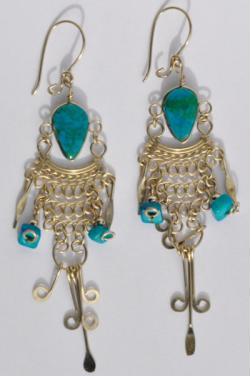 Boucles d'oreilles en turquoise - Quilla
