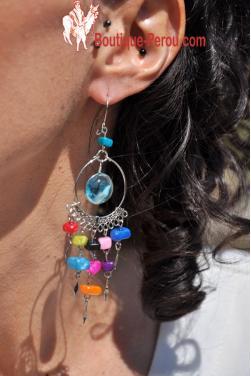 Boucles d'oreilles aux couleurs du printemps