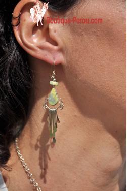 Boucles d'oreilles en serpentine - Quilla