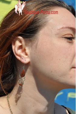 Boucles d'oreilles en pierre oeil de tigre-Chaska.