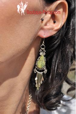 Boucles d'oreilles Inti - Serpentine.