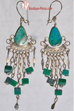 Boucles d'oreilles Qosqo - turquoise.