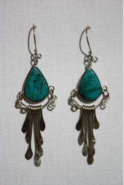 Boucles d'oreilles Tikca - en pierre  turquoise