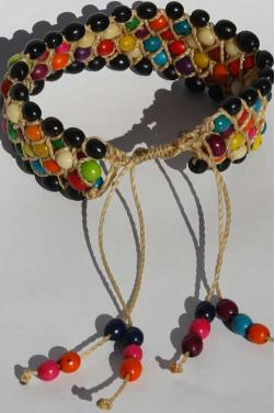 Bracelet en perles multicolores