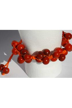 Bracelet huayruro en graines rouges