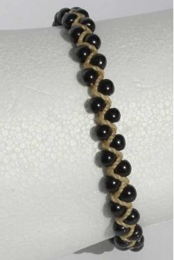 Bracelet avec pierres malachite