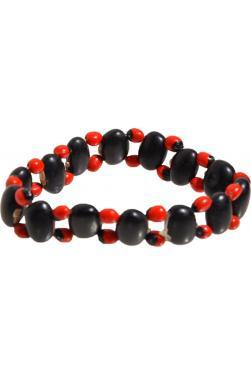 Bracelet huayruro graines noires