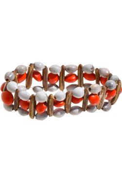 Bracelet huayruro rouge et blanc