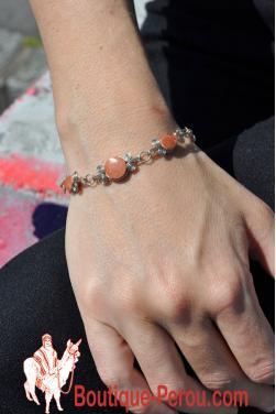 Bracelet Raymi pierre jaspe rouge