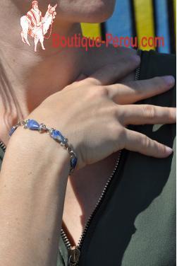 Bracelet raymi en pierre lapis-lazuli