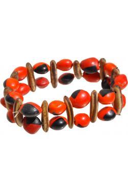Bracelet Huayruro rouge et noir