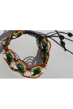 Bracelet Rasta et coquillage