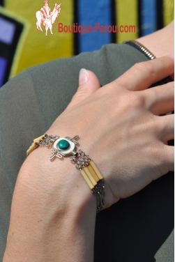 Bracelet Kime en pierre turquoise