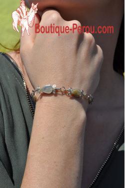 Bracelet Raymi pierre quartz blanc