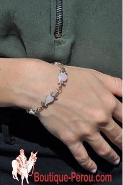 Bracelet Raymi pierre quartz rose