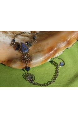 Bracelet bague en pierre péruvienne sodalite