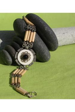 Bracelet Kime en pierre Malachite ou chrysocolle