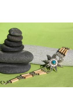 Bracelet fin en pierre turquoise