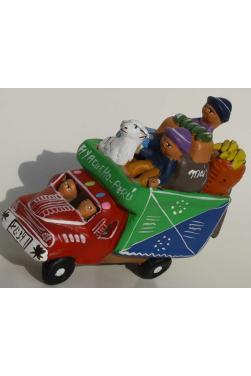 Camioncito péruvien rouge
