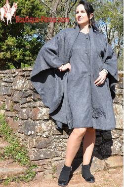 Manteau Cape en laine d'alpaga