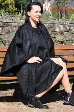 Manteau cape noir