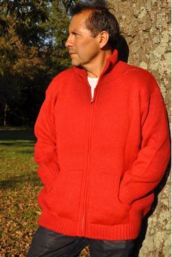 Blouson homme ultra épais Rouge indien