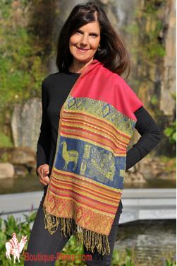 Echarpe foulard couleurs du printemps