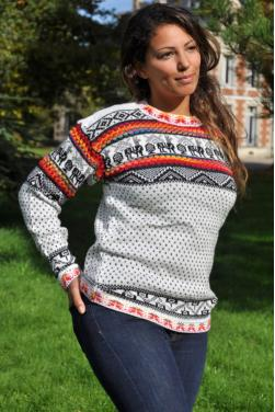 Pull-over d'hiver blanc femme